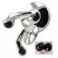 Universal Lenkerendenspiegel BOB KURZ CHROM mit Lenkergewicht M6 TRIUMPH LC-System