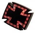 LED Rücklicht GOTHIC CROSS schwarzes Gehäuse