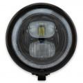 LED Haupt Scheinwerfer PEARL II GLANZ schwarz 5 3/4 Zoll Befestigung seitlich E-Geprüft