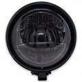 LED Haupt Scheinwerfer AREA V mit TFL glanz schwarz 5 3/4 Zoll Befestigung unten M10 E-Geprüft