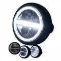 LED Haupt Scheinwerfer HORIZON I GLANZ schwarz 5 3/4 Zoll Befestigung seitlich E-Geprüft