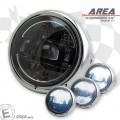 LED Haupt Scheinwerfer AREA IV mit TFL chrom 5 3/4 Zoll Befestigung unten M10 E-Geprüft