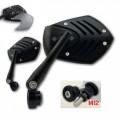 Universal Lenkerendenspiegel SHIELD mit Lenkergewicht M12 BMW-System