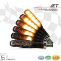 LED / SMD Blinker JET Lauflicht (sequenziell) M8 ALU schwarz PAAR