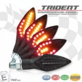 LED Blinker Rücklicht Kombination TRIDENT FORK Lauflicht (sequenziell) M10 Sequenzblinker