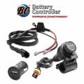 Bordsteckdose für Motorrad + USB-Adapter, wasserdicht