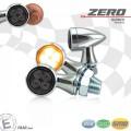 LED SMD Blinker ZERO D=19,5mm M8 Glas GETÖNT Gehäuse ALU CHROM E-geprüft