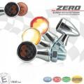 LED SMD Rücklicht - Blinkereinheit ZERO D=19,5mm M8 Glas GETÖNT Gehäuse ALU CHROM E-geprüft