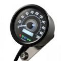DAYTONA Digitaler Tacho NEW VELONA 2 mit Kontrollleuchten D=60mm bis 200 km/h