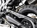 Kettenschutz Aluminium. Schwarz. Triumph Tiger 800/800XC
