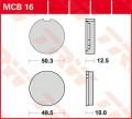 TRW Lucas Bremsbelag MCB16 Organic Allround