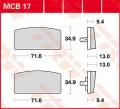 TRW Lucas Bremsbelag MCB17 Organic Allround