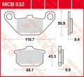 TRW Lucas Bremsbelag MCB532 Organic Allround