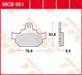 TRW Lucas Bremsbelag MCB551 Organic Allround