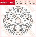 TRW Lucas Bremsscheibe vorne MSW211RAC schwimmend gelagert