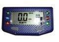 Acewell Motorrad Tachometer ACE-254 Carbon Optik blau 6 Kontrollleuchten
