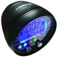 Acewell ACE-2900 Alugehäuse schwarz Motorrad Drehzahlmesser mit Temperaturanzeige und Schaltwarnung