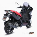 MIVV AUSPUFF STRONGER STEEL BLACK Full sys 1x1, e SP GILERA NEXUS 300 08-