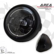 LED Haupt Scheinwerfer AREA II mit TFL schwarz 5 3/4 Zoll Befestigung seitlich E-Geprüft