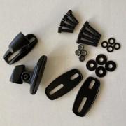 Universal Adapter für Verkleidungsspiegel schwarz Set