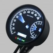 DAYTONA Digitaler Tacho + Drehzahlmesser VELONA-W Multifunktionsinstrument D=80mm