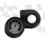Lenker Thermometer im Metallgehäuse SCHWARZ kurze Version für 22 mm (7/8