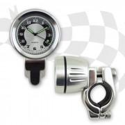 Lenkeruhr im Metallgehäuse CHROM lange Version für 22 mm (7/8
