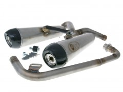 Turbokit® Edelstahl Auspuff DOUBLE HONDA MSX 125 2013-15 E-geprüft