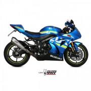 MIVV AUSPUFF DELTA RACE Slip On Suzuki GSX-R 1000 17- Edelstahl Euro 4